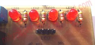 Widok moduł diod LED.