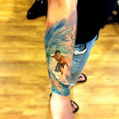 Tatuagem Surfista Braço