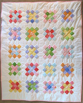 Lakehouse Fabric granny square quilt
