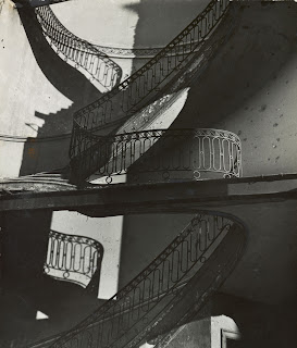 Bill Brandt ~1942: Bombed Regency Staircase Upper Brook Street Mayfair.
