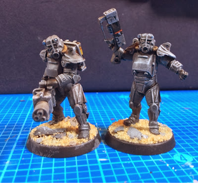 "Fallout aka BrotherVinni ""Sandlot"" Power-Armour Miniatures WIP"