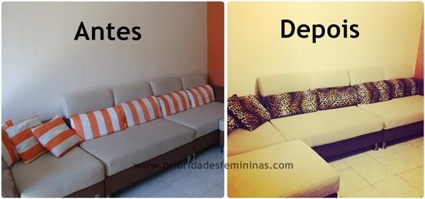 almofadas listras laranjado, animal print, leopard, oncinha