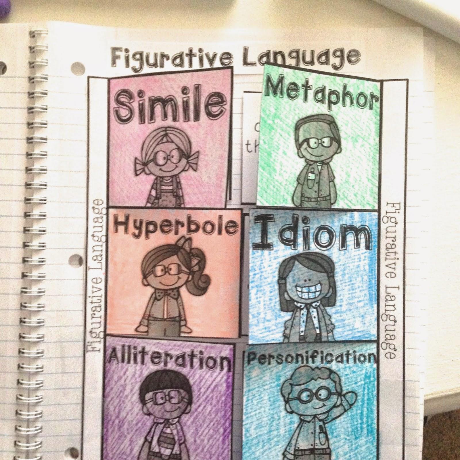 Teaching Figurative Language Life In Fifth Grade