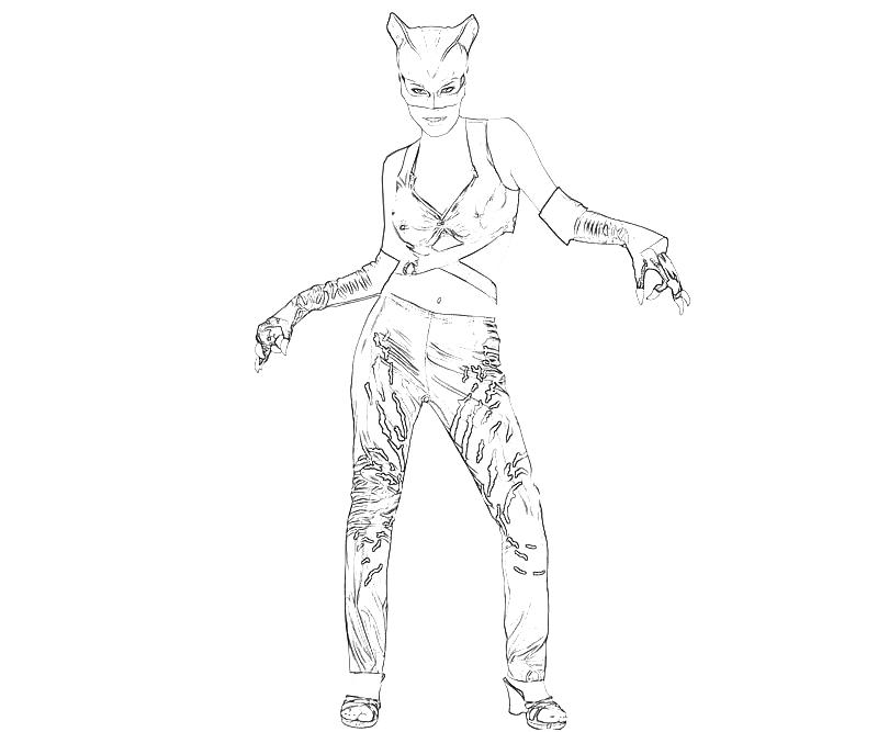 Batman arkham city catwoman pose how coloring for Catwoman printable coloring pages