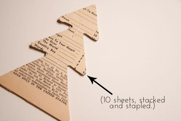 Árbol de papel reciclado para navidad en Recicla Inventa