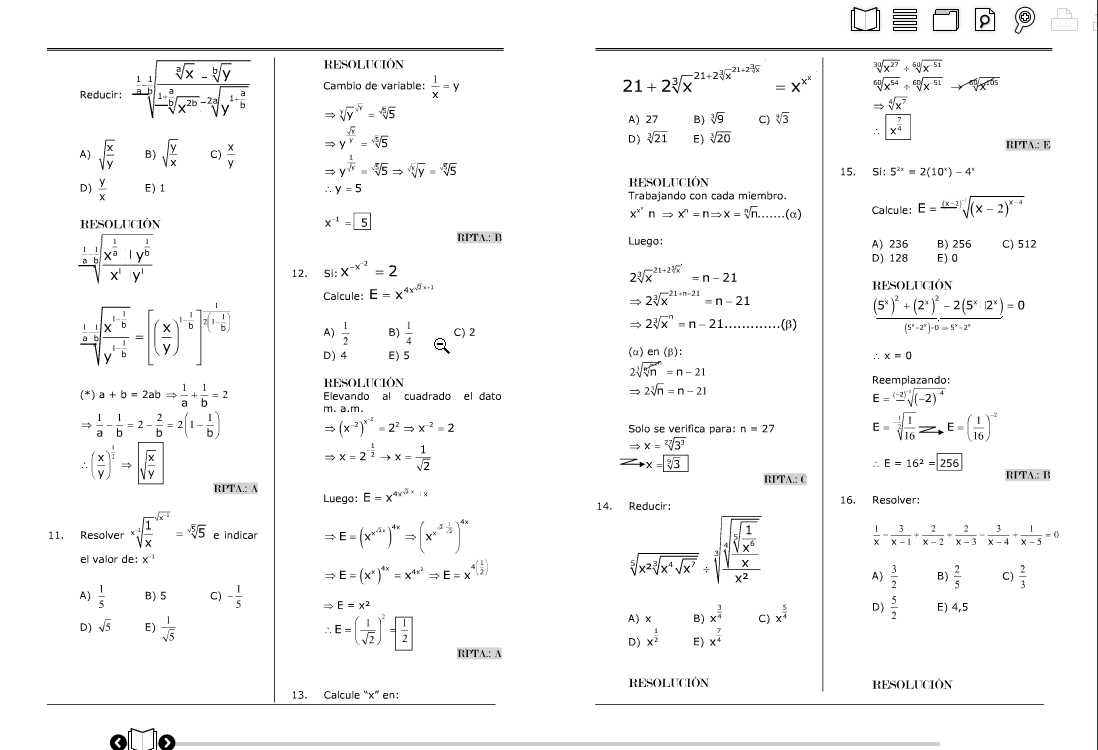 examen de algebra 2016 scribdcom mundo preuniversitario ... - photo#21