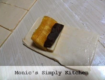 cara membuat banan roll pastry instan