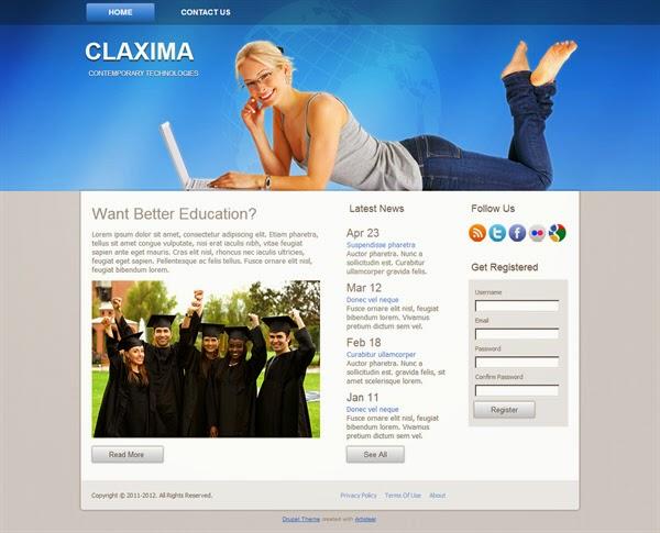 Claxima - Free Drupal Theme