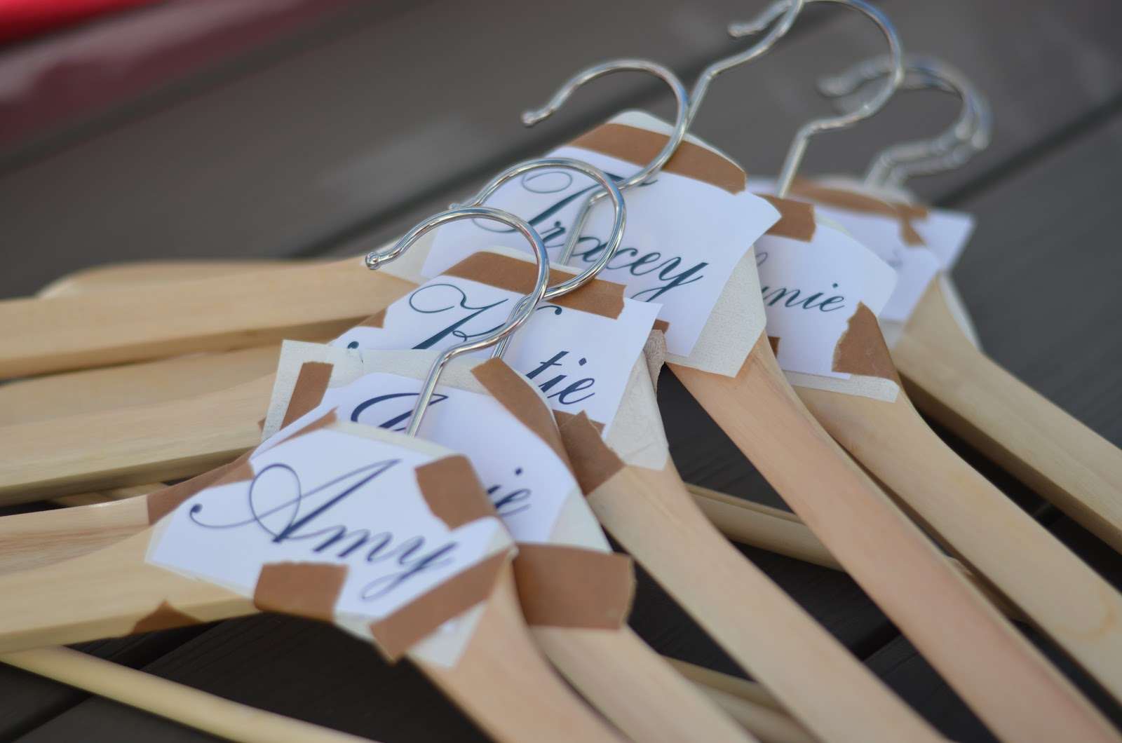 How to make bridesmaid hangers wedding ideas a spot of whimsy diy personalized hanger solutioingenieria Images
