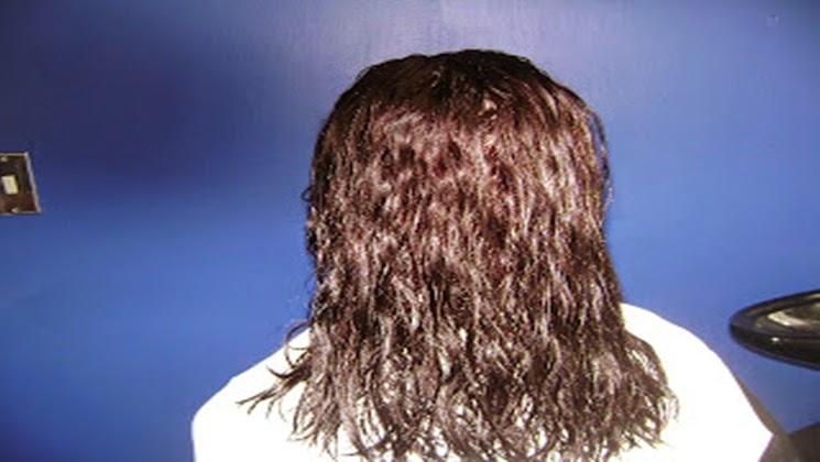 cabello humedo