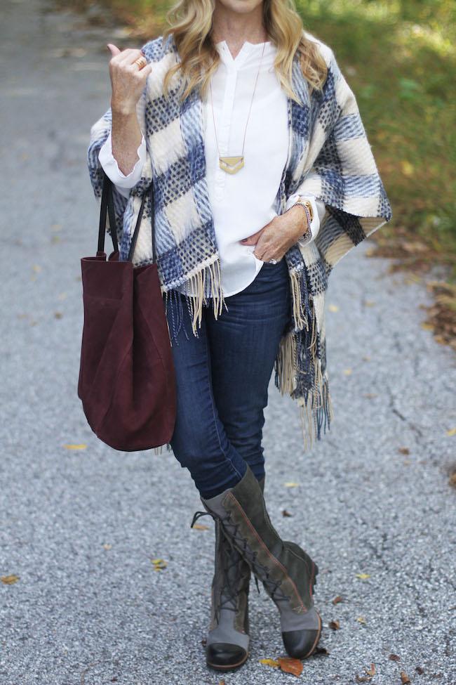 mango handbag, jcrew jeans, sorel boots