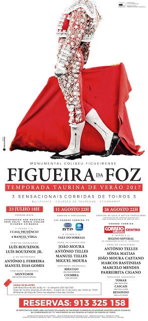 FIGUEIRA DA FOZ (PORTUGAL) 23 DE JULHO CORRIDA MIXTA - 11 Y 26 DE AGOSTO CORRIDAS A PORTUGUESA.