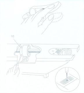 posicion aguja maquina de coser al transportador arrastre