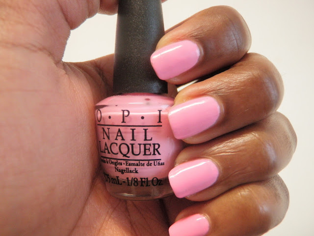 Review and swatches of OPI nicki minaj collection pink friday.