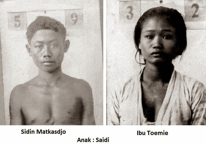 Almarhum Sidin Matkasdjo (kiri) dan istrinya, almarhumah Ibu Toemie (kanan)