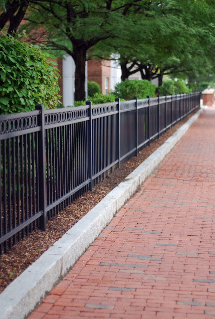 Brick And Wrought Iron Fencing6