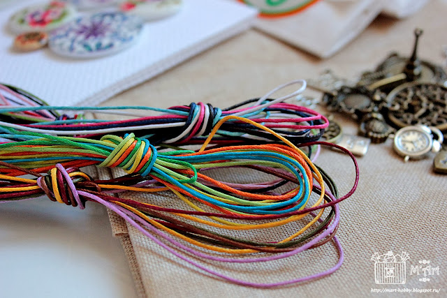 вощеный шнур для декорирования