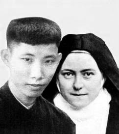 St. Therese of Lisieux  and brother Marcel Van