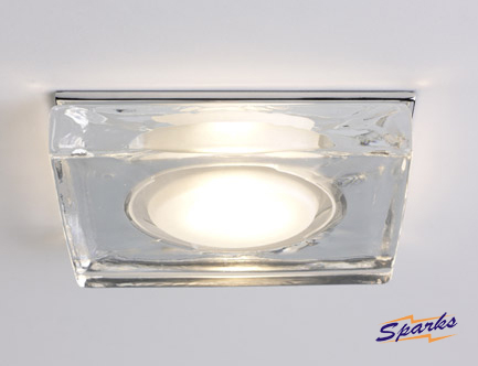 Garda 5521 Square Glass Bathroom Downlight
