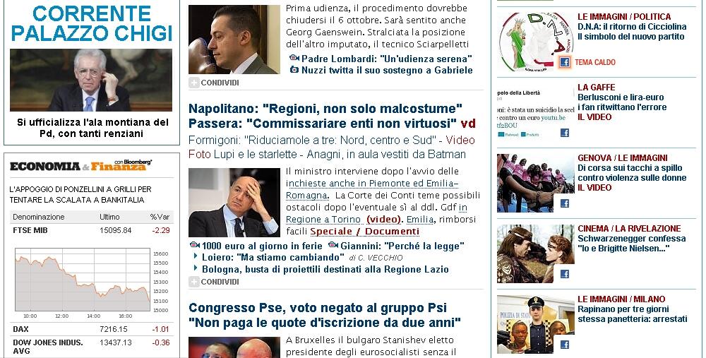 Genova di corsa settembre 2012 for Home page repubblica