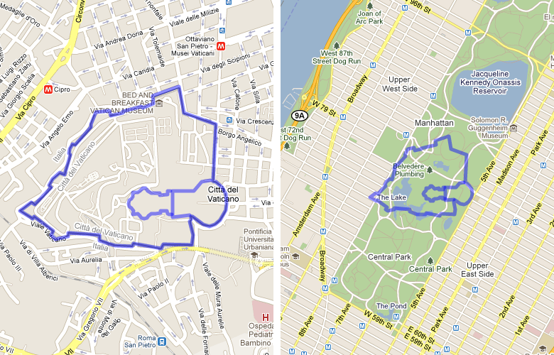 Mapfrappe europe vatican city compared to central park new york city gumiabroncs Images
