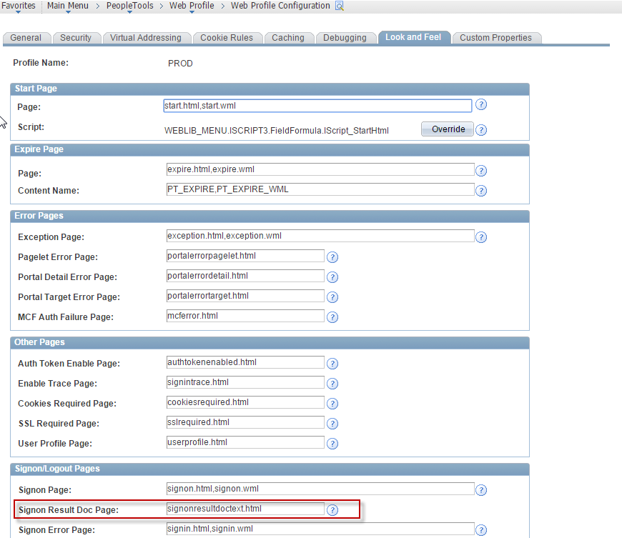 Sasanks peoplesoft log conditional redirect in signon peoplecode ccuart Images