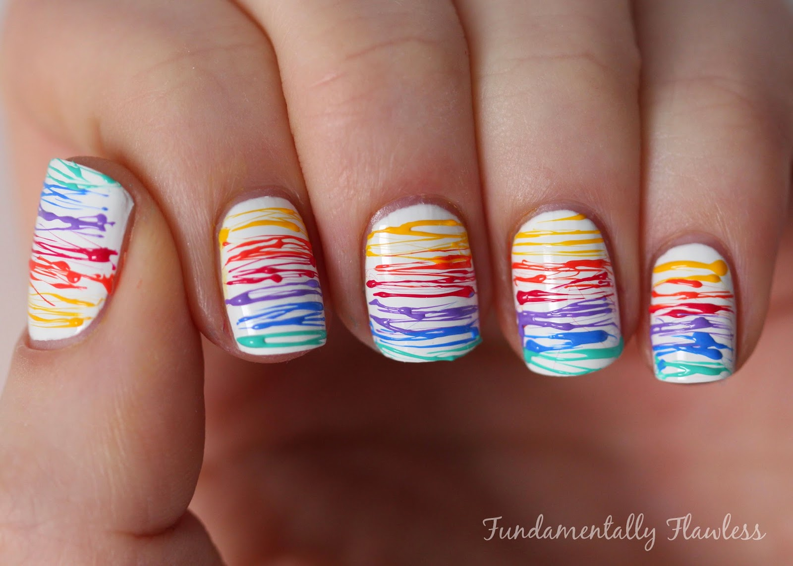 Rainbow Sugar Spun Nails