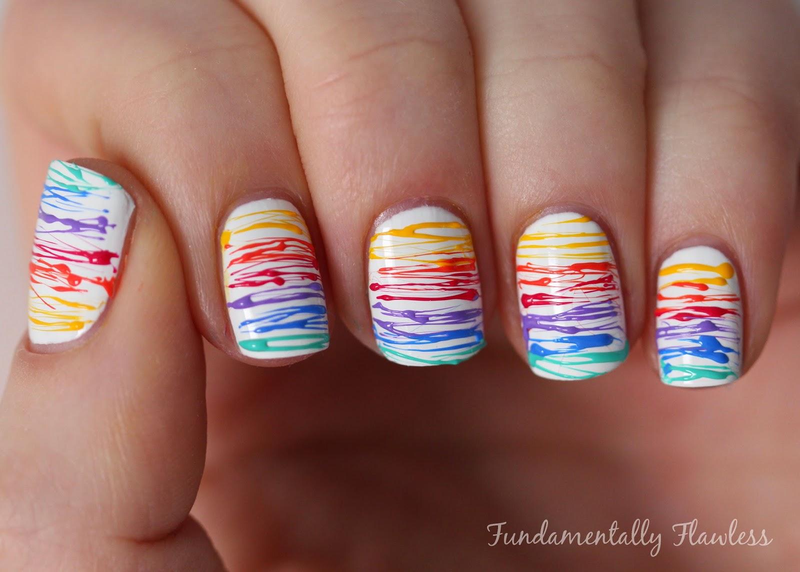 Rainbow Sugar Spun Nails