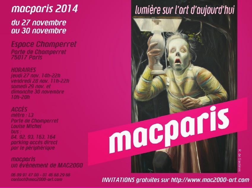 Prochaine exposition,    Salon macparis du 27 au 30 nov, Porte de Champerret