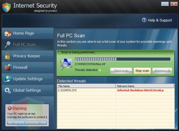 Internet Security 2014 es un falso programa de seguridad ( rogue ) que ...