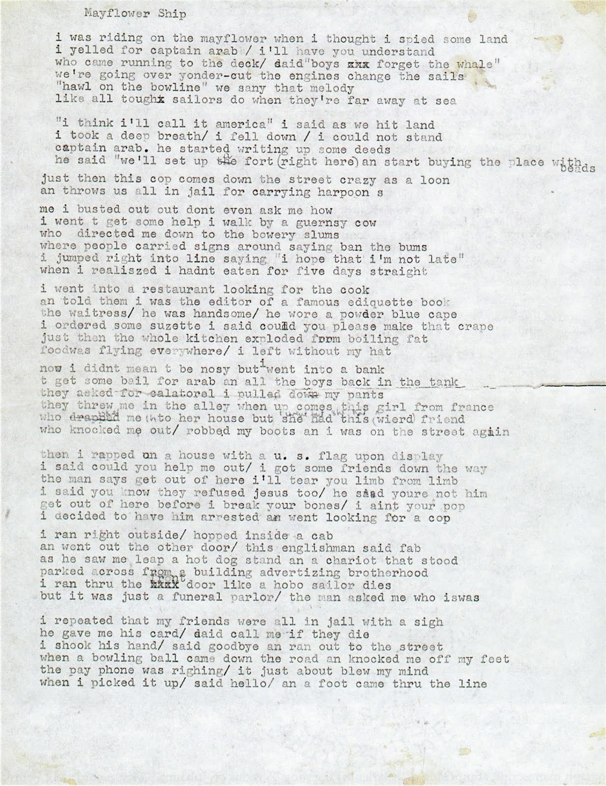 bob dylan essay Some notes on style lyrics are an important part of dylan's music his poetic ability, unpolished and unconventional vocal style and the candidness of his verses.