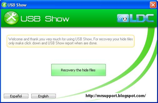 how to show hidden files in usb windows 7