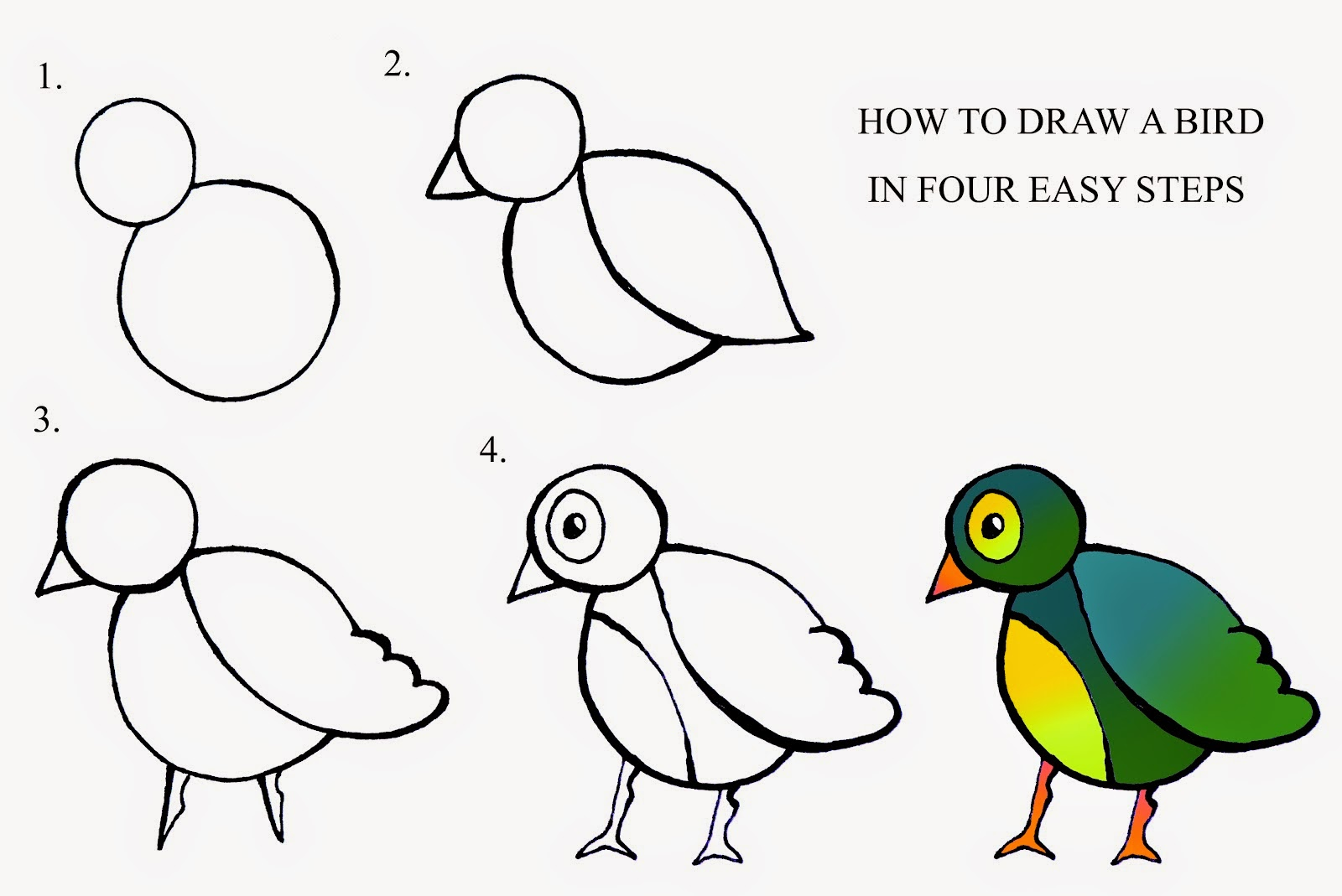 Double headed shart attack drawing practice let 39 s learn for Easy steps to draw a rose