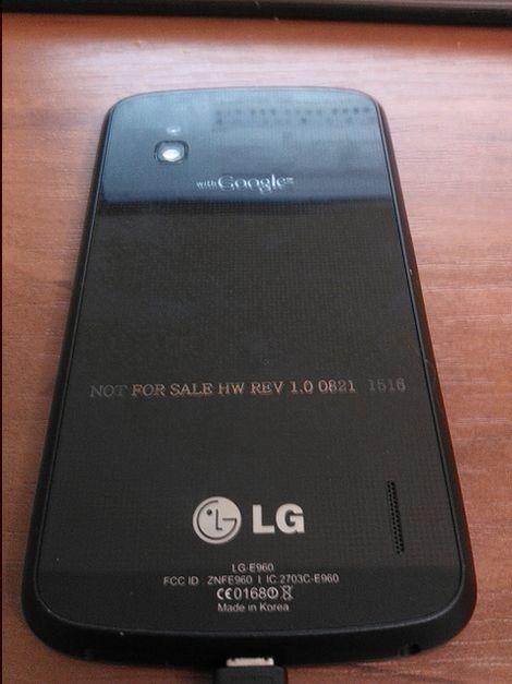 Android Smartphone LG Optimus Nexus Pictures