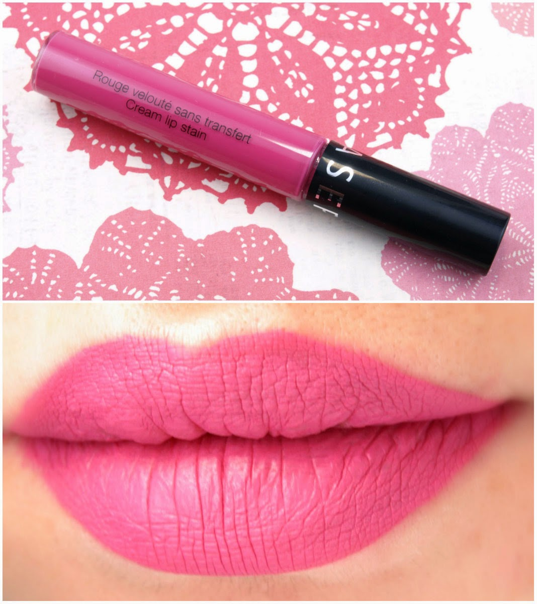 "Sephora Collection Cream Lip Stain in ""07 Cherry Blossom"" & ""09 Watermelon Slice"": Review and Swatches"