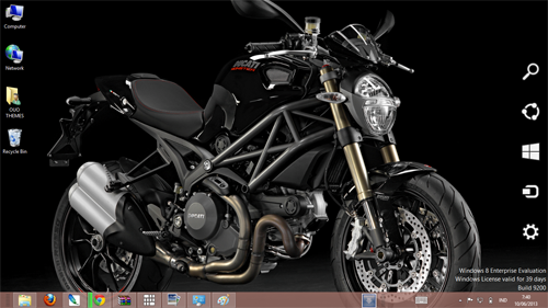 Ducati Monster 1100 Evo 2013 Theme For Windows 7 And 8