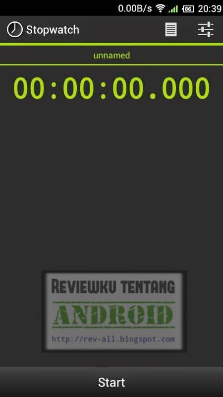 Tampilan utama aplikasi stopwatch versi 3.6.2 - aplikasi android stopwatch (rev-all.blogspot.com)
