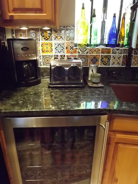 under-counter beverage refrigerator verde peacock granite