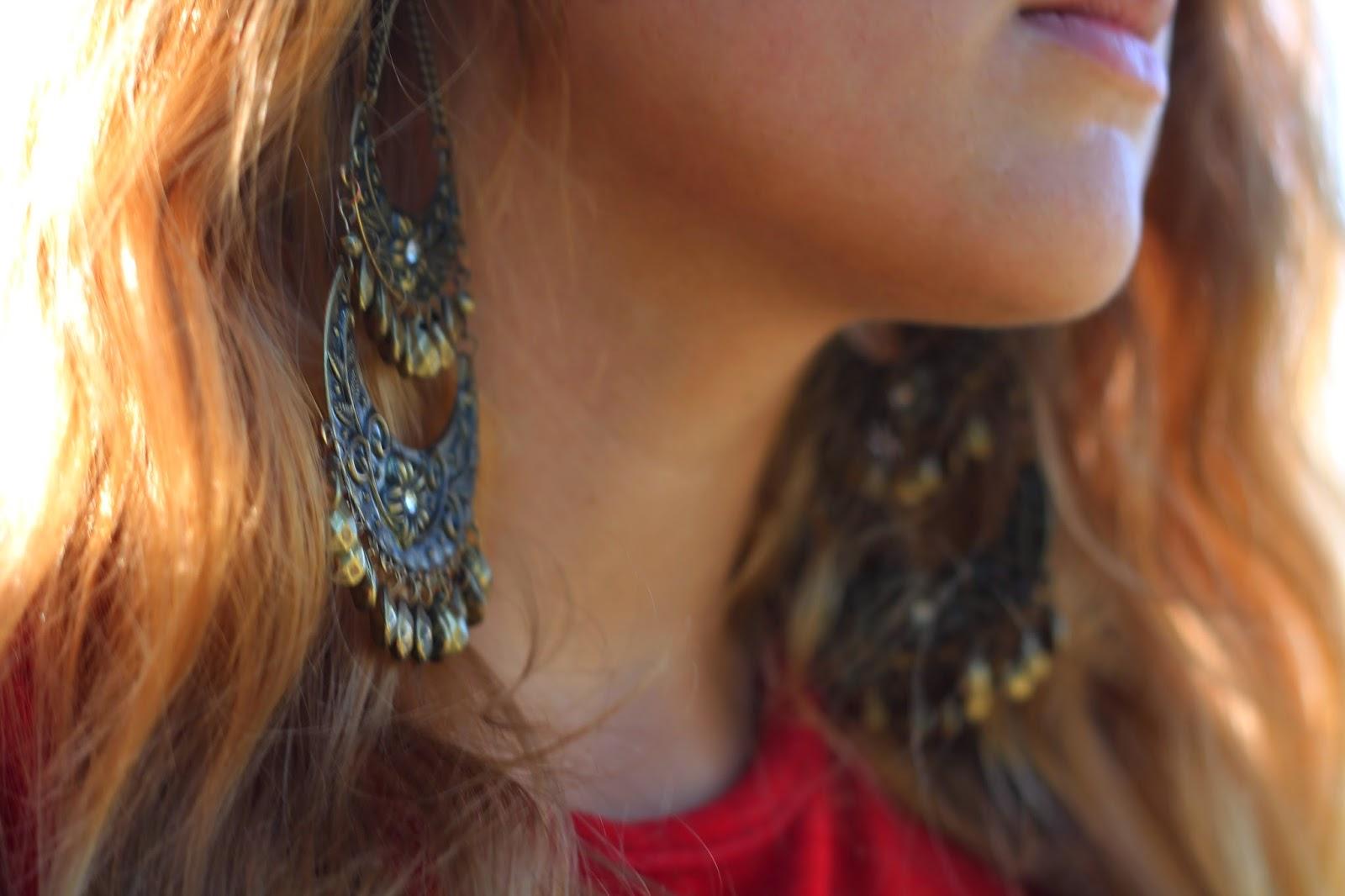 charlotte russe chandelier earrings