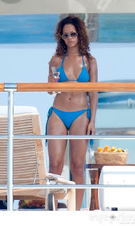 Rihanna In Hot Sexy Blue Bikini On Yacht In St Tropez