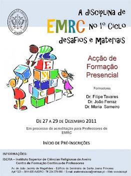 Formação para professores em EMRC no 1º Ciclo