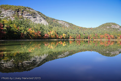 echo lake, whitehorse ledge, cathedral ledge, north conway, fall foliage