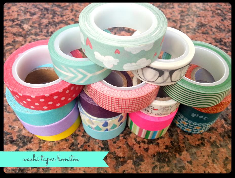 colección de washi tapes masking tape bonitos