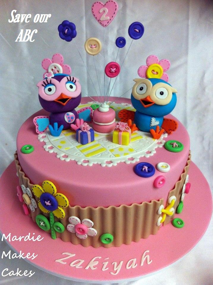 Giggle and Hoot Cake Save Our ABC Mardie makes Cakes