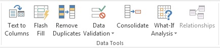 Excel Data tools