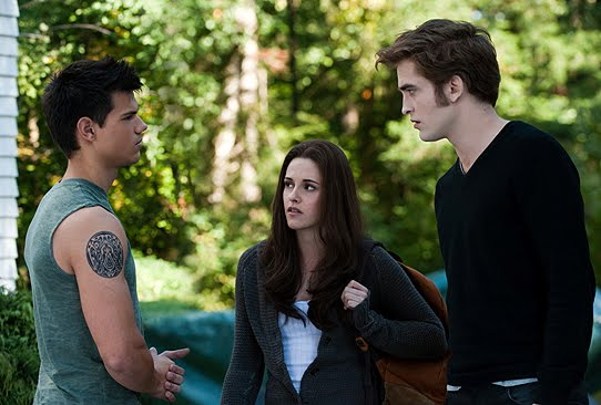 ... about an angsty teen played by Kristen Stewart caught in a love triangle ...