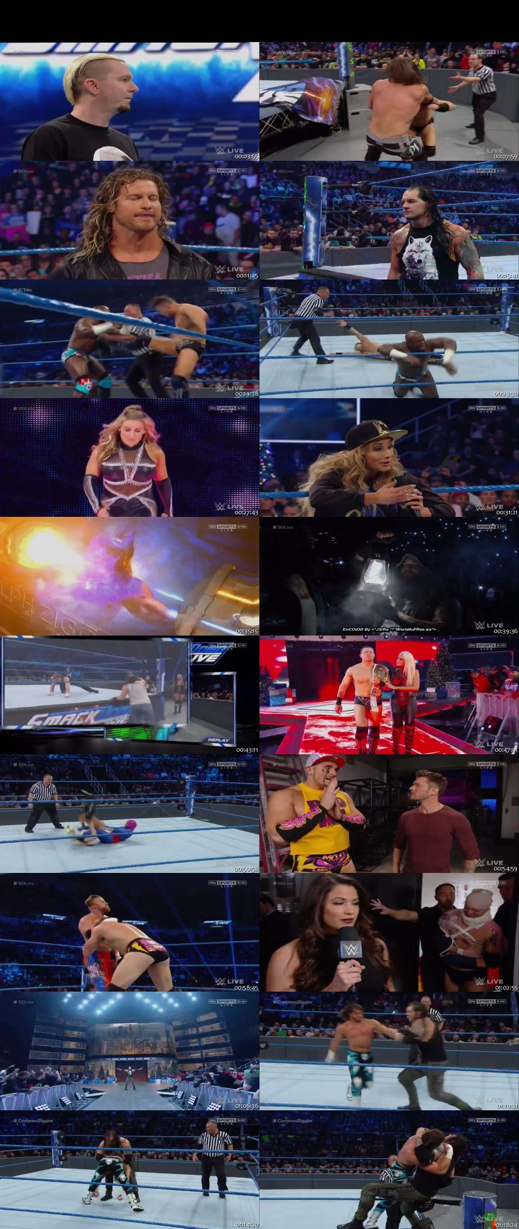 Screen Shot Of WWE SmackDown Live 20th December 2016 HDTV 480P 375MB