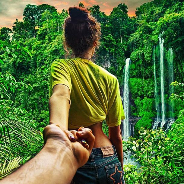 Follow Me To - Bali -Fotógrafo Murad Osmann segue a namorada pelo mundo