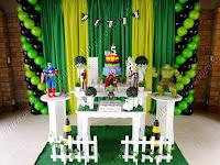 Decoração de festa infantil Os Vingadores Porto Alegre
