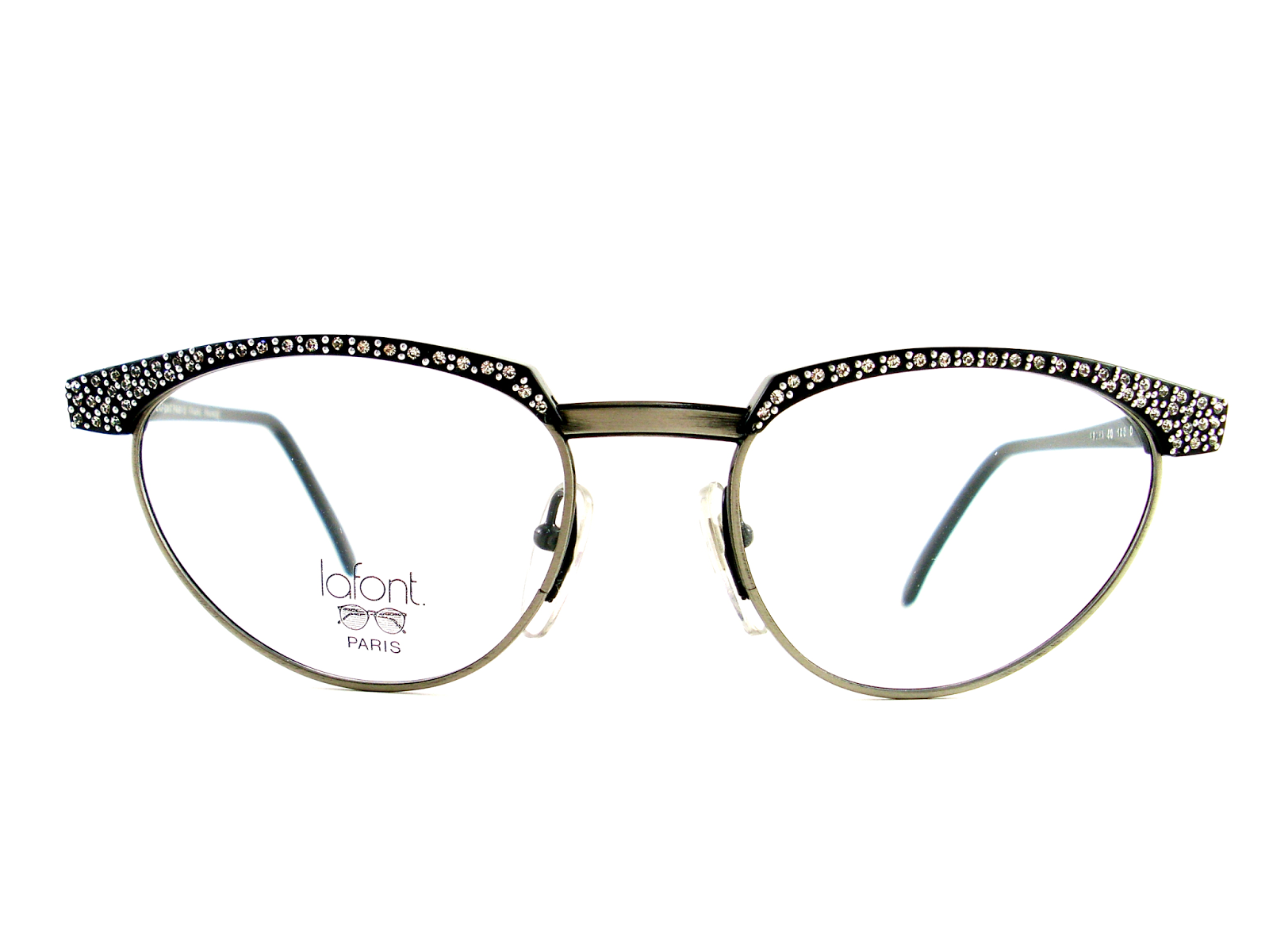 Jean lafont eyeglasses frames - Vintage Cat Eye Glasses Absolutely Stunning Jean Lafont Paris Eyeglasses Rhinestones And Silver Beads Adorn The Brow Rim And Bridge Have Antique Metal